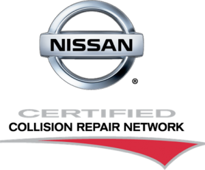 nissan certified collision repair logo